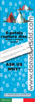 6-petals rupture disc,Direct + Reverse Scored